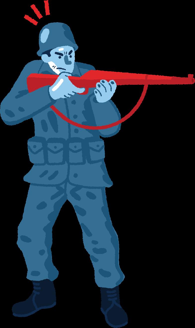 Клипарт Солдат в PNG и SVG