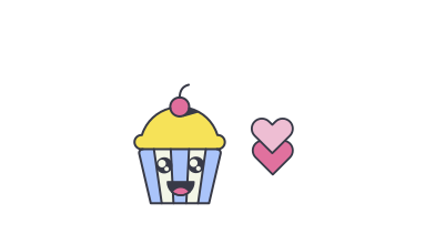style Cute Cupcake images in PNG and SVG | Icons8 Illustrations