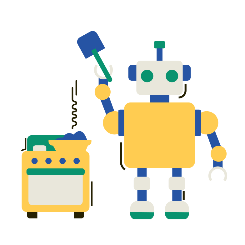 style Robot cook Vector images in PNG and SVG | Icons8 Illustrations