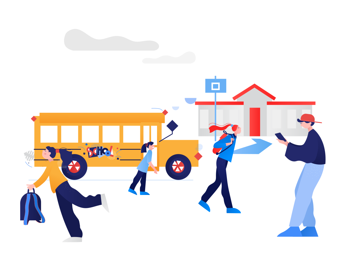 School playground Clipart illustration in PNG, SVG