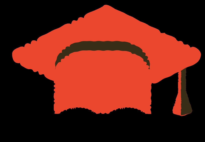 graduation cap Clipart illustration in PNG, SVG