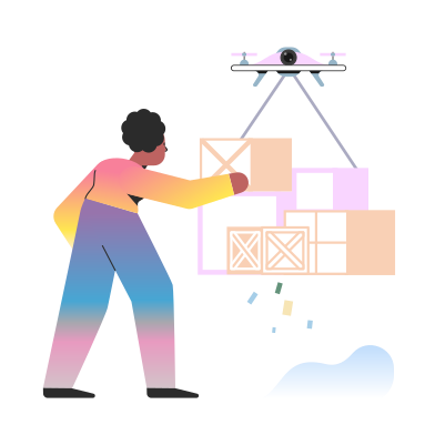 style Delivery drone images in PNG and SVG | Icons8 Illustrations