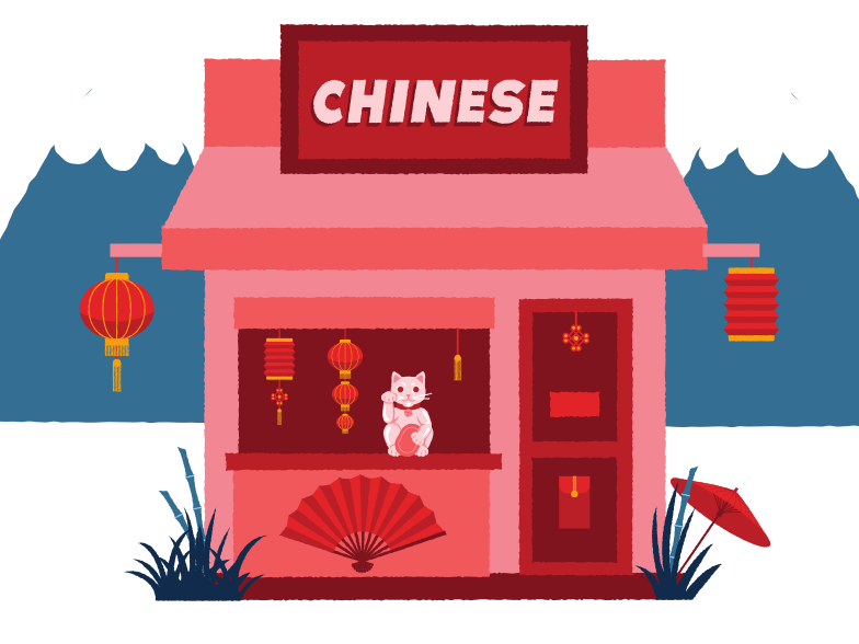 Chinese shop Clipart illustration in PNG, SVG