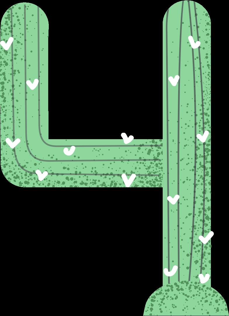 cactus like number Clipart illustration in PNG, SVG