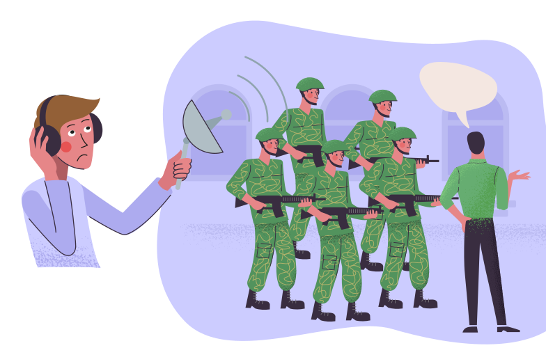 Spying Clipart illustration in PNG, SVG