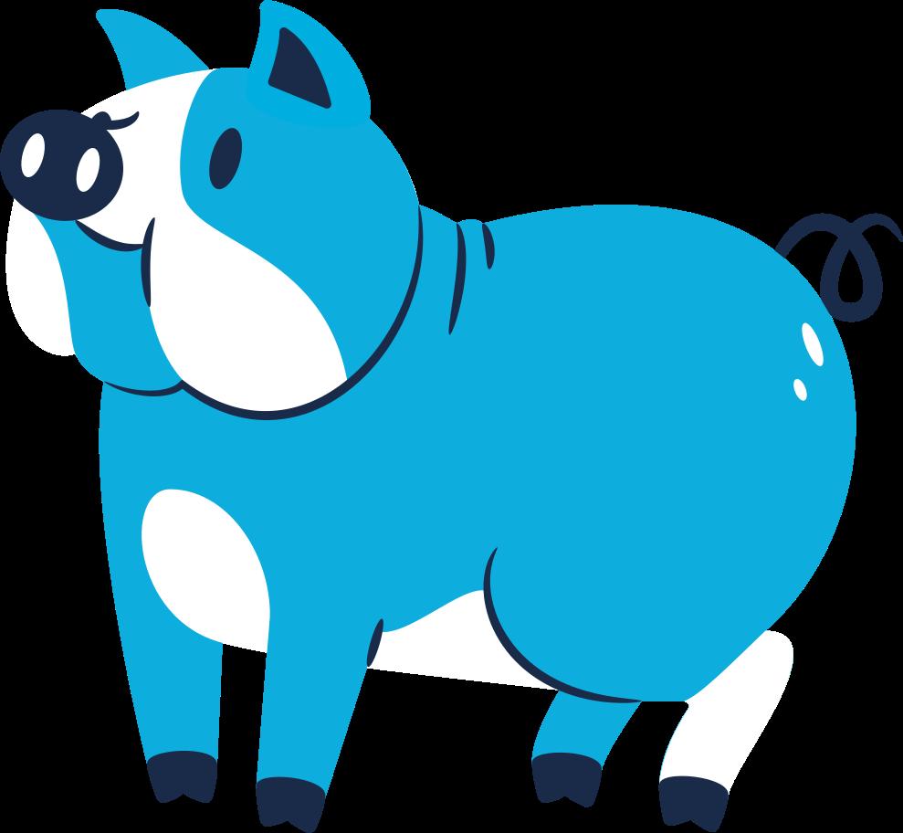 pig standing Clipart illustration in PNG, SVG