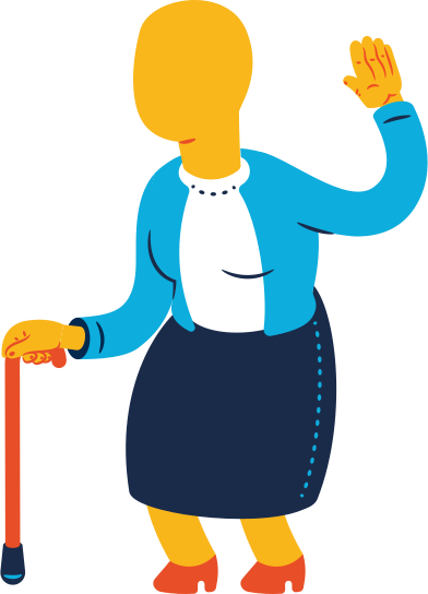 style old woman greeting images in PNG and SVG | Icons8 Illustrations