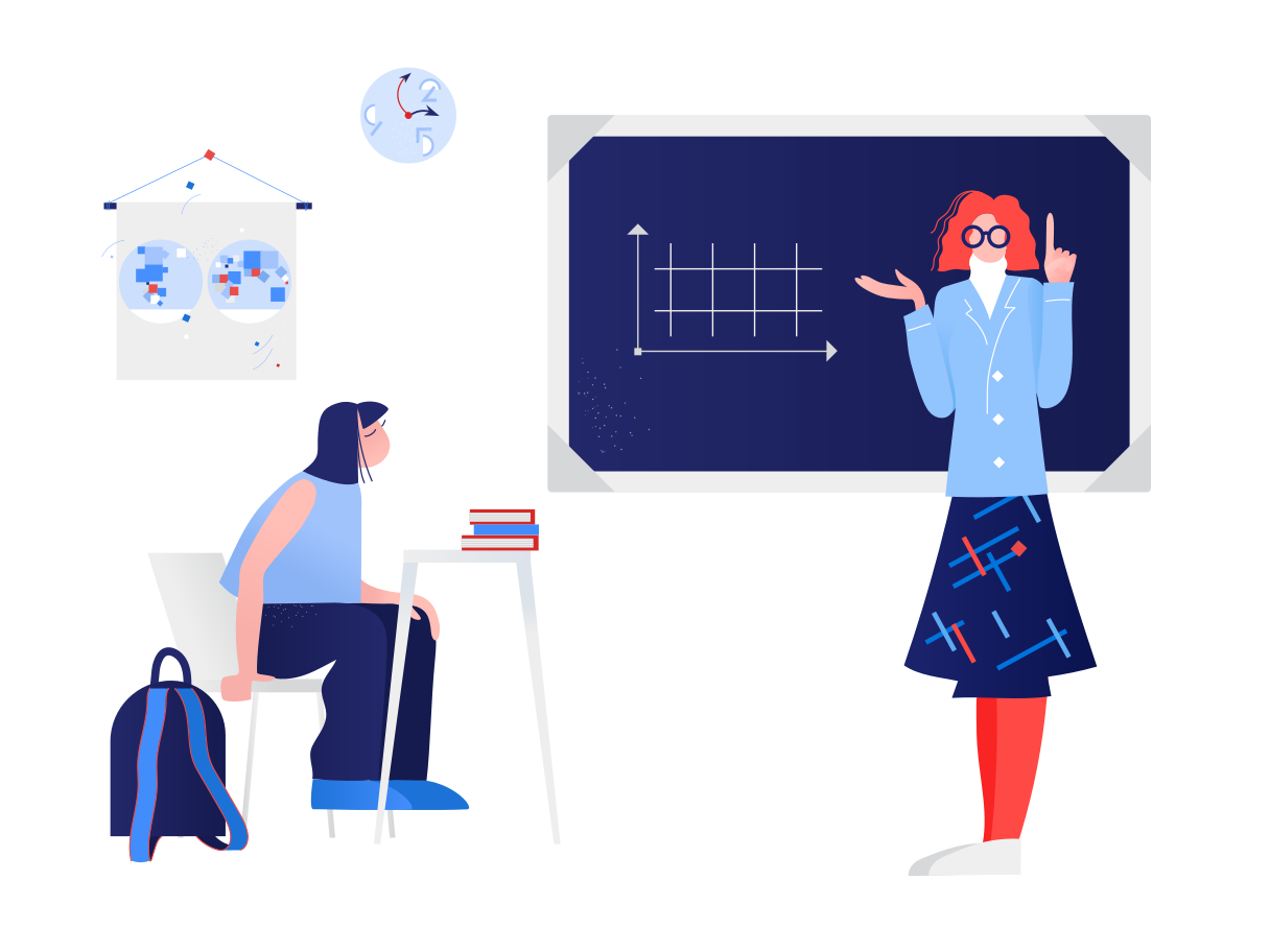 style Schoolteacher teaches pupil Vector images in PNG and SVG   Icons8 Illustrations