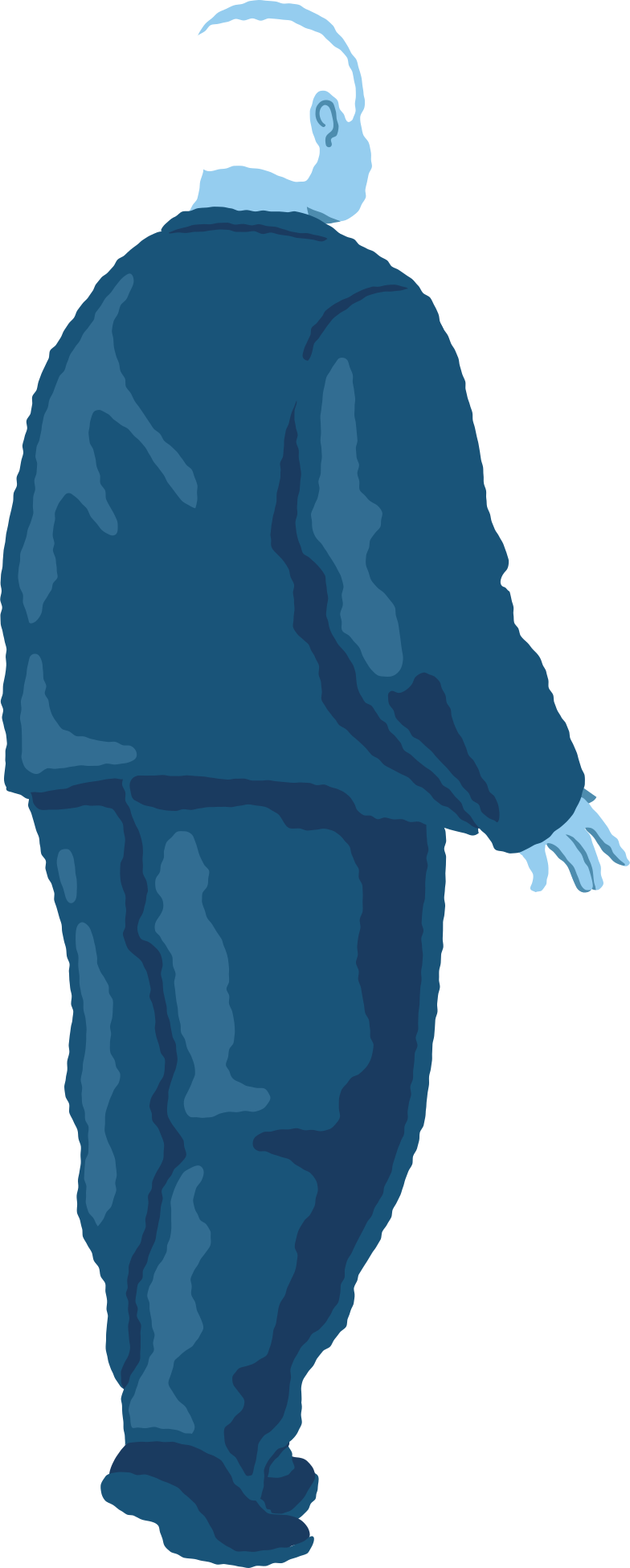 style old chubby man standing back Vector images in PNG and SVG | Icons8 Illustrations