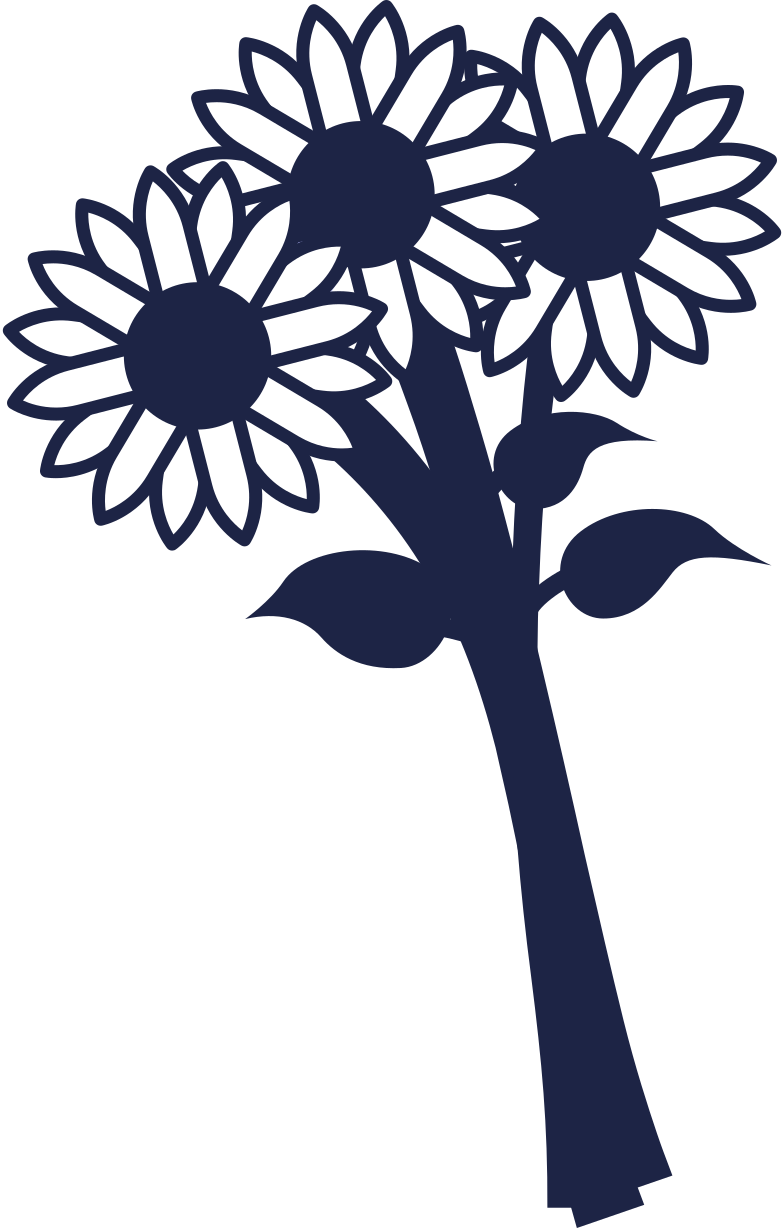 bouquet of flowers line Clipart illustration in PNG, SVG