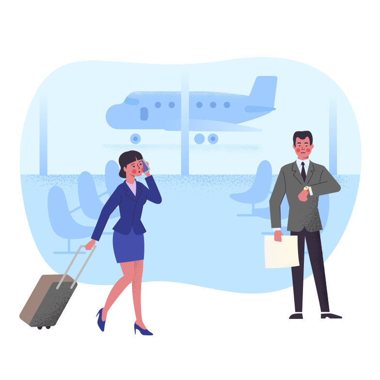 style Meeting at the airport Vector images in PNG and SVG | Icons8 Illustrations
