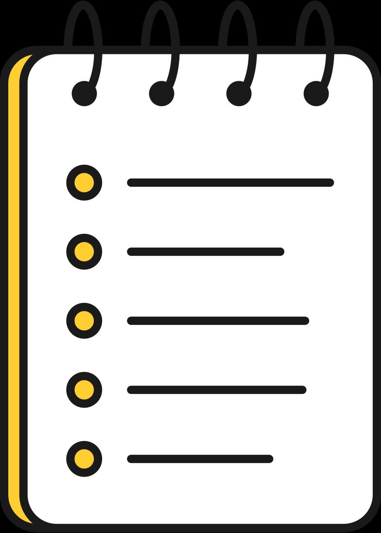 Imágenes vectoriales almohadilla con lista en PNG y SVG estilo  | Ilustraciones Icons8