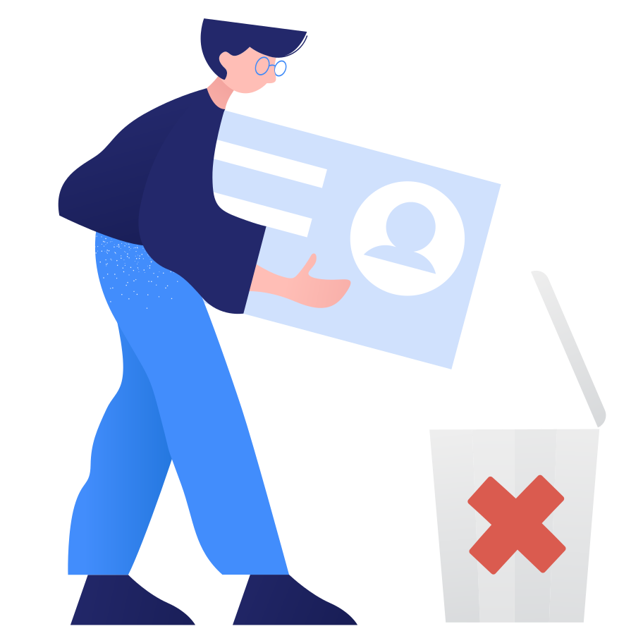 style Account deleting Vector images in PNG and SVG | Icons8 Illustrations