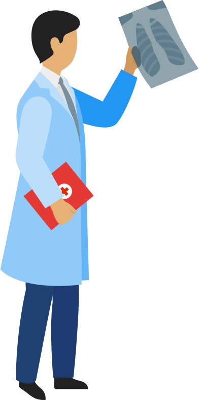 style doctor with x-ray image and patient-card images in PNG and SVG | Icons8 Illustrations