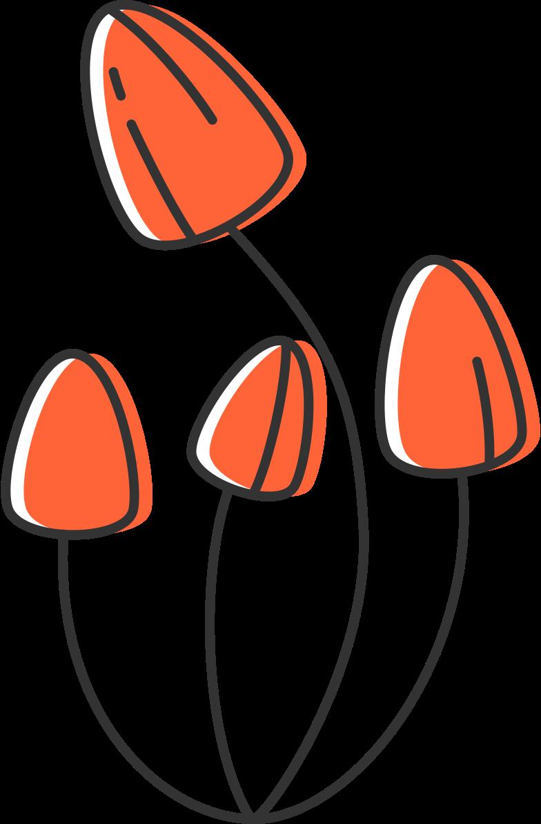 mushrooms Clipart illustration in PNG, SVG