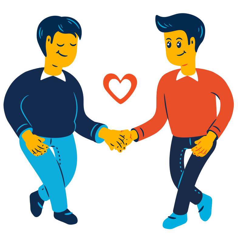 Couple holding hands Clipart illustration in PNG, SVG
