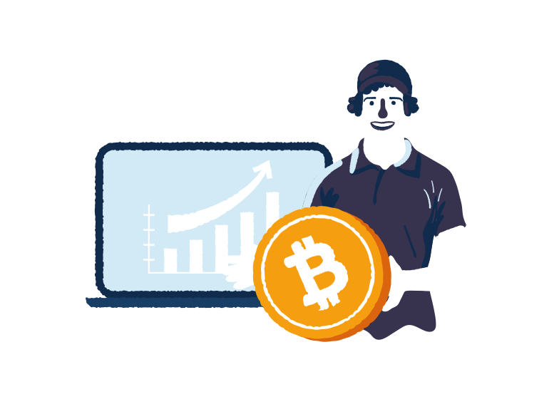 Bitcoin is growing Clipart illustration in PNG, SVG