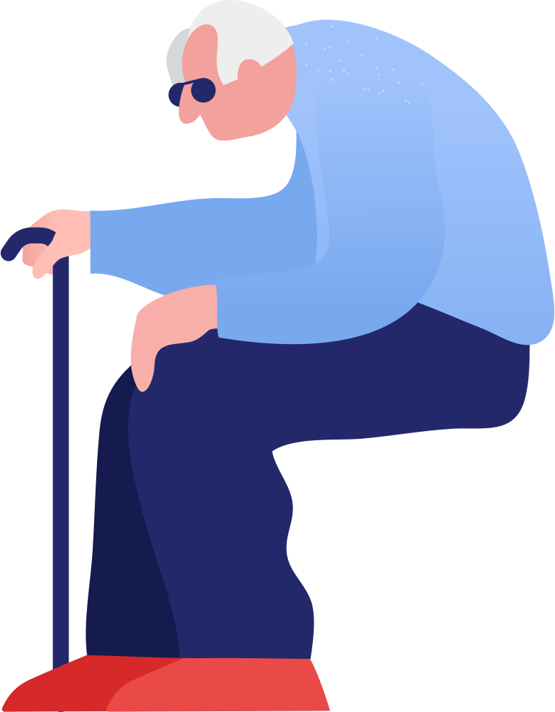 grandpa sitting Clipart illustration in PNG, SVG