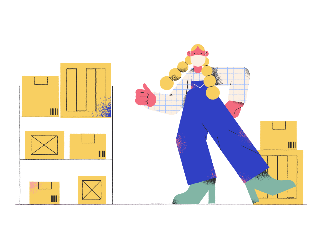 Warehouse worker Clipart illustration in PNG, SVG
