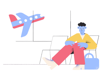 style Waiting for airplane  images in PNG and SVG | Icons8 Illustrations