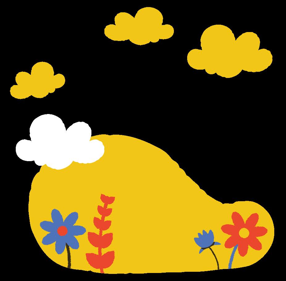flower field Clipart illustration in PNG, SVG