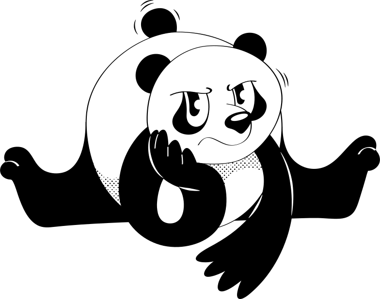 style sad panda Vector images in PNG and SVG | Icons8 Illustrations