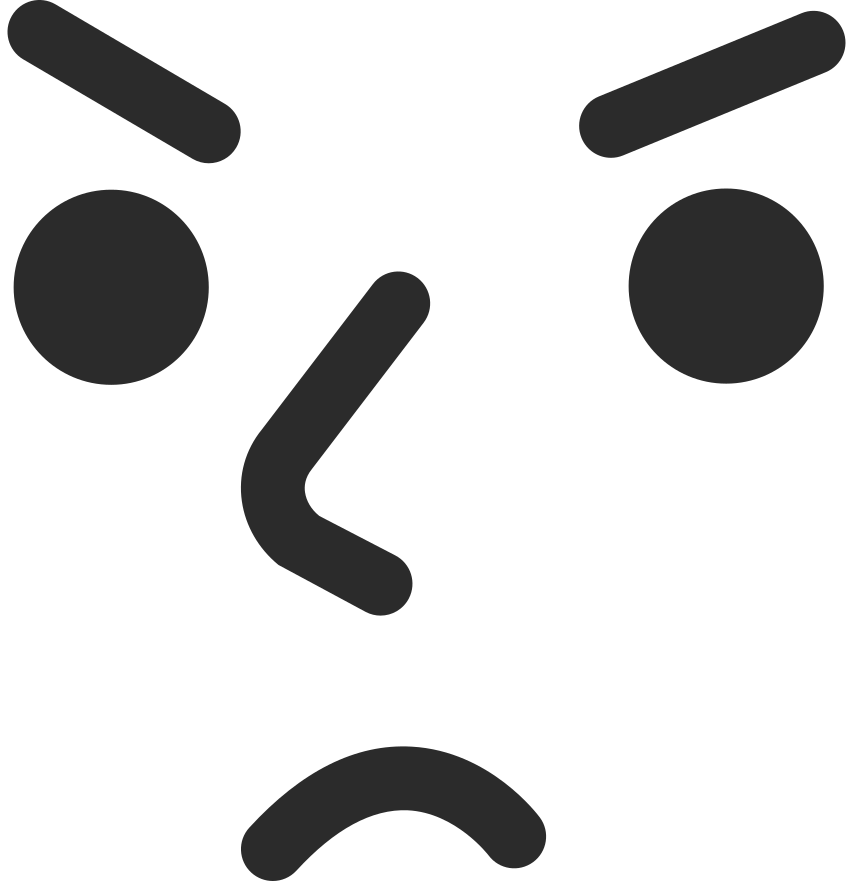 angry face Clipart illustration in PNG, SVG
