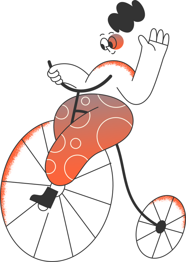 style girl on the bicycle Vector images in PNG and SVG | Icons8 Illustrations