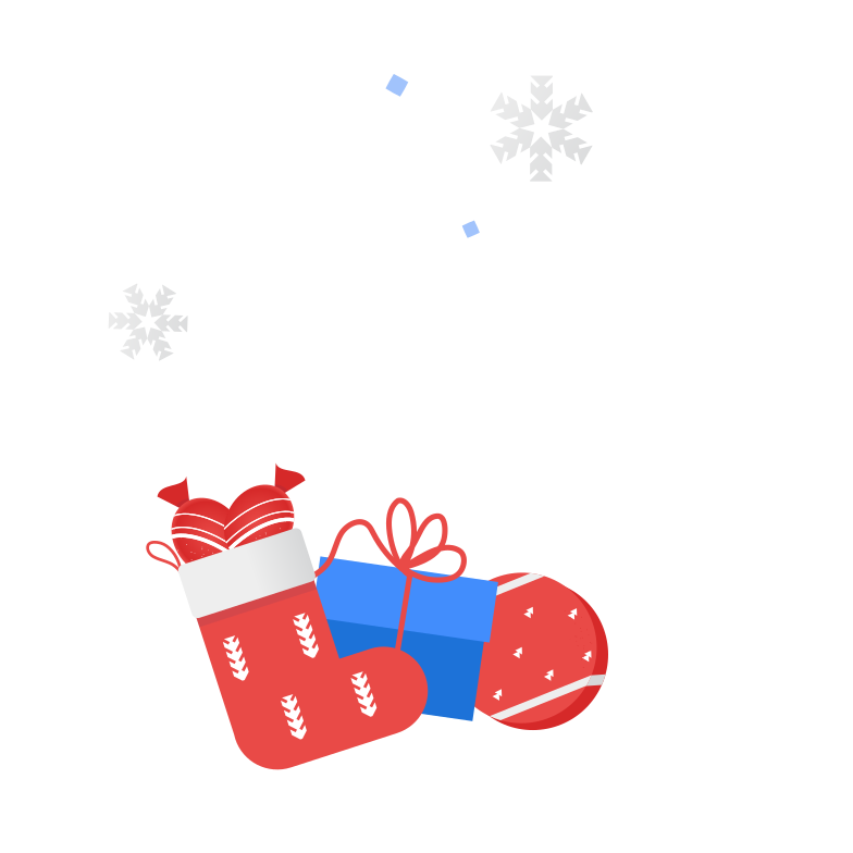 Getting Christmas presents Clipart illustration in PNG, SVG