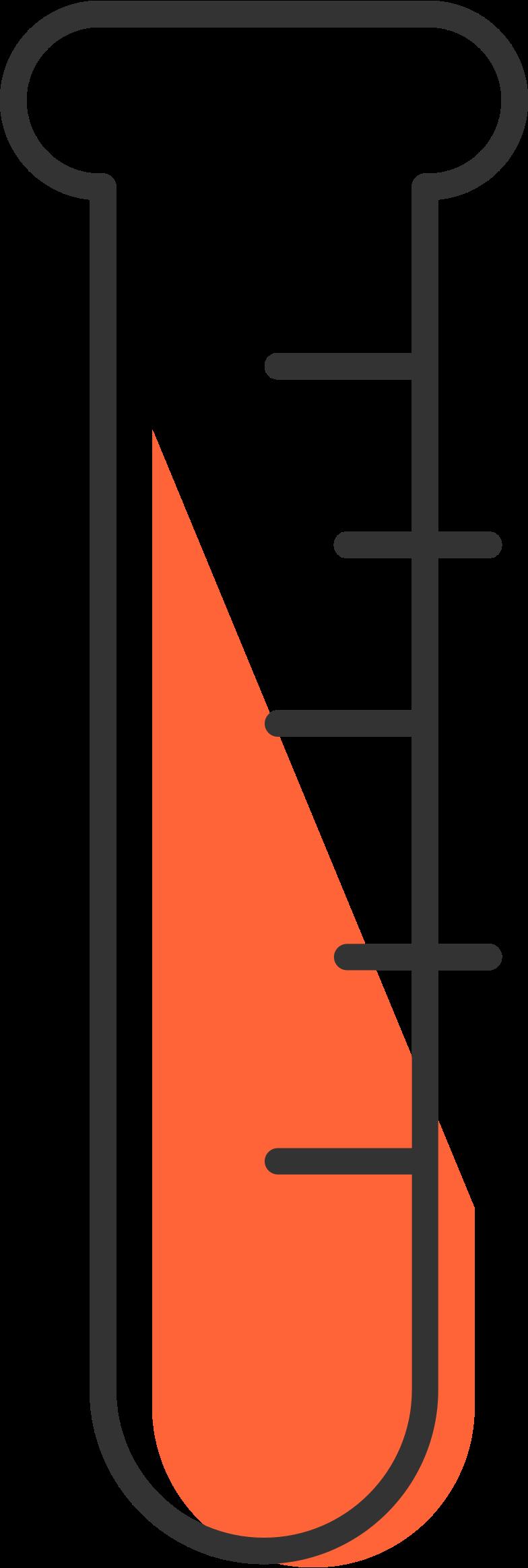 Tubo de ensaio com sangue Clipart illustration in PNG, SVG