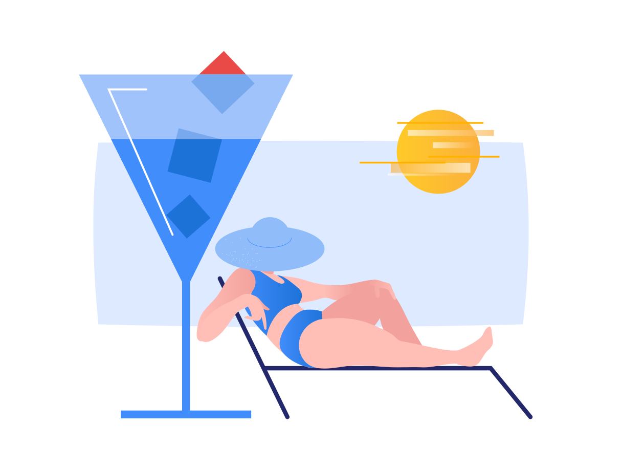 Summer chilling Clipart illustration in PNG, SVG