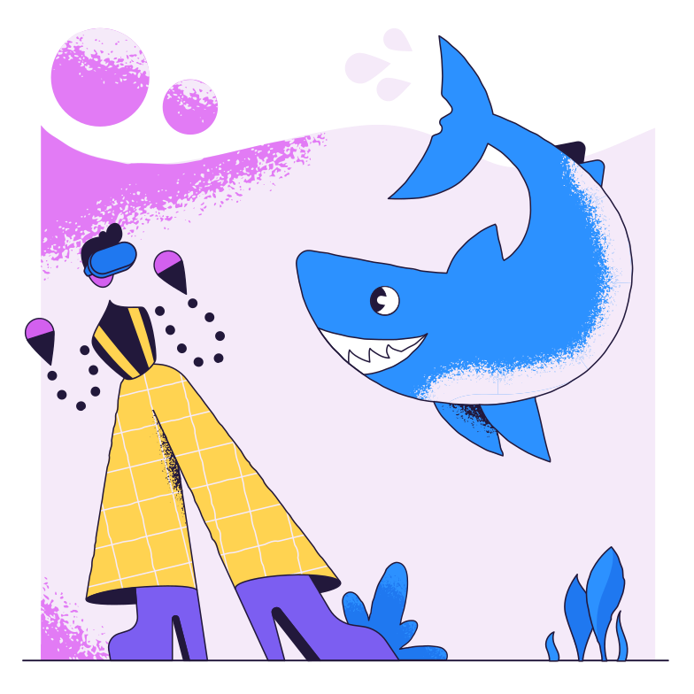 Virtual underwater world Clipart illustration in PNG, SVG