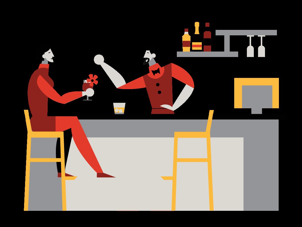 Evening conversation Clipart illustration in PNG, SVG