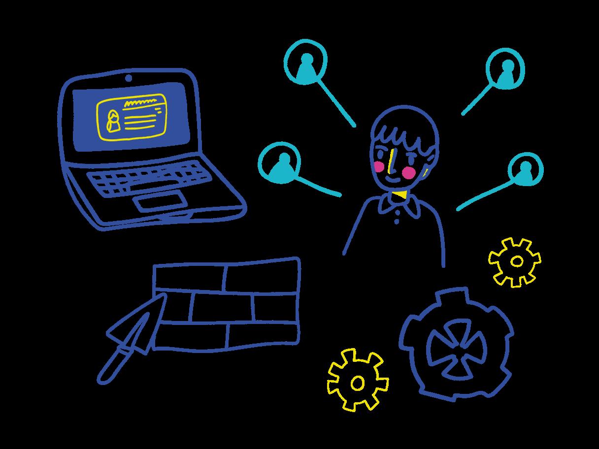 teambildung Clipart-Grafik als PNG, SVG