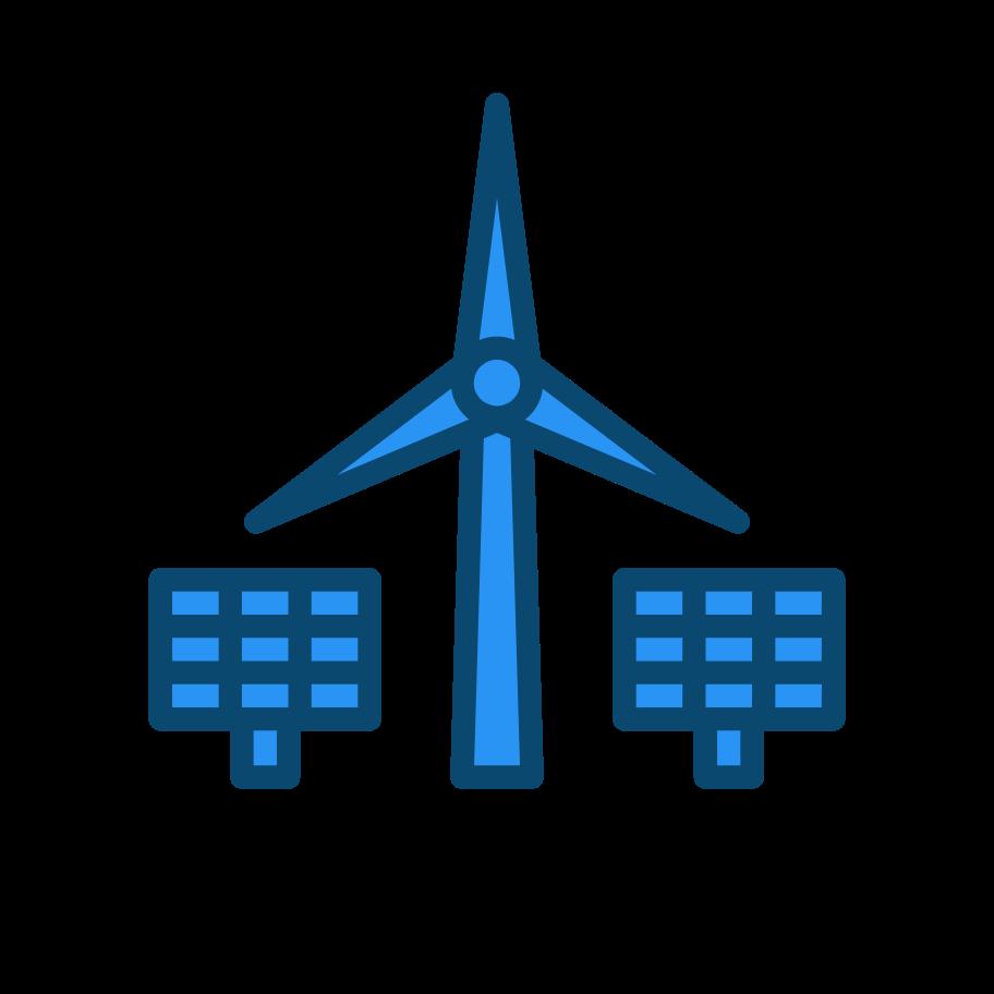 Alternative energy sources Clipart illustration in PNG, SVG