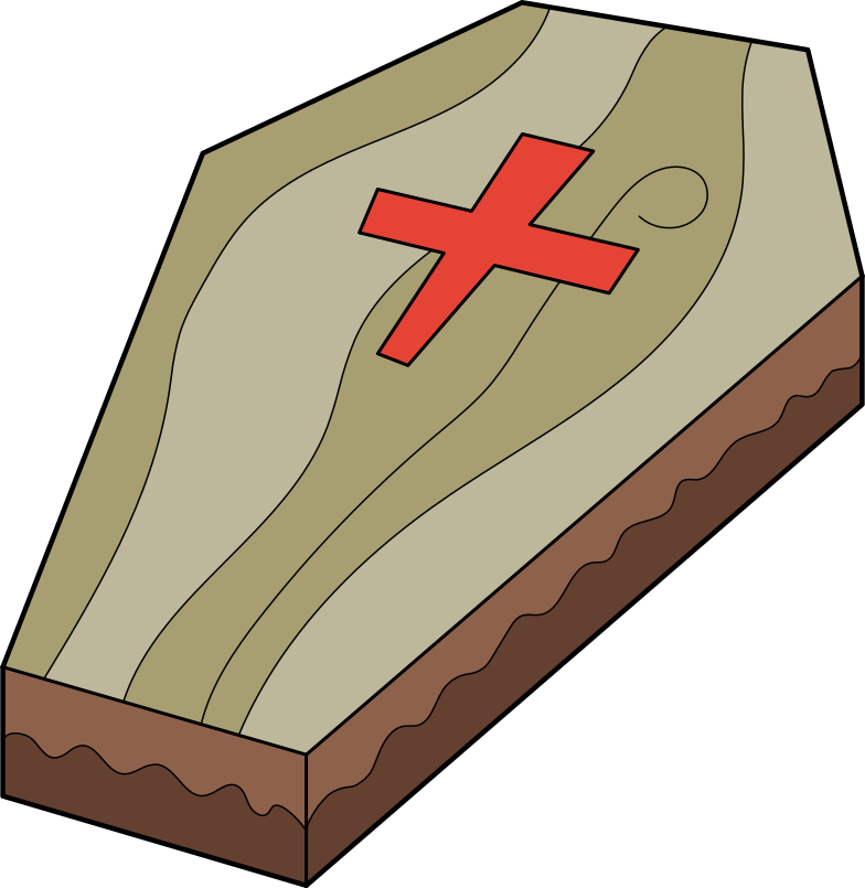 coffin Clipart illustration in PNG, SVG