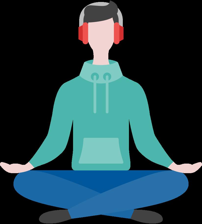 meditating man Clipart illustration in PNG, SVG