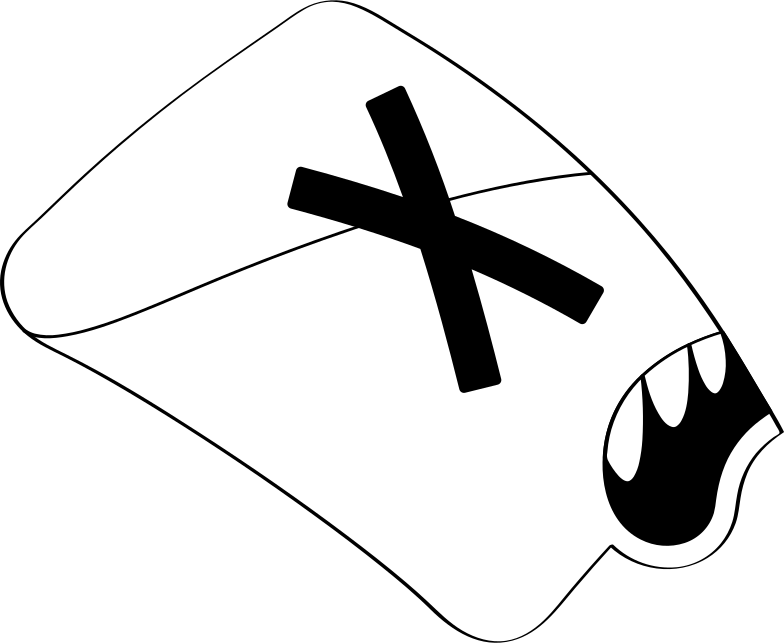 half letter Clipart illustration in PNG, SVG
