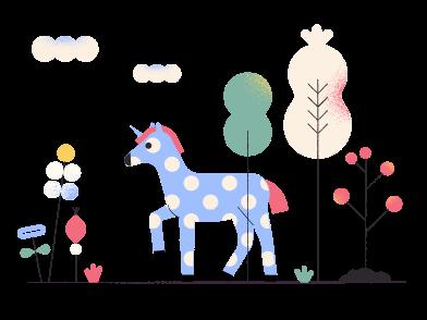 Imágenes de caballo en madera colorida estilo  en PNG y SVG | Ilustraciones Icons8