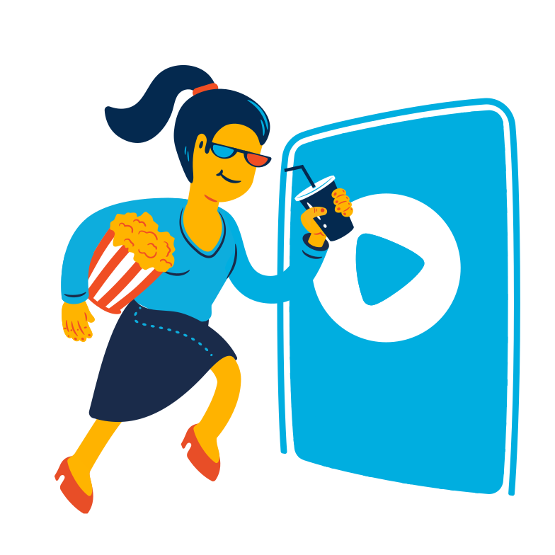 style Woman goes to the cinema Vector images in PNG and SVG | Icons8 Illustrations