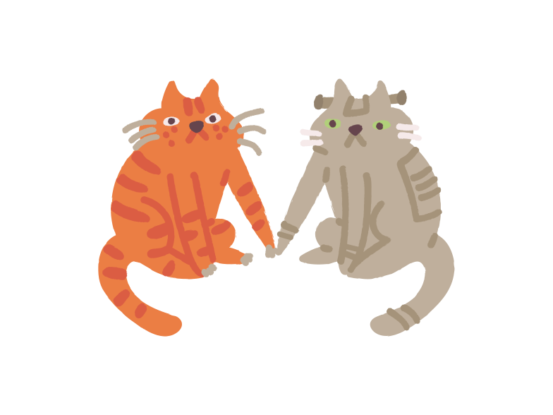 Robot cat twin Clipart illustration in PNG, SVG