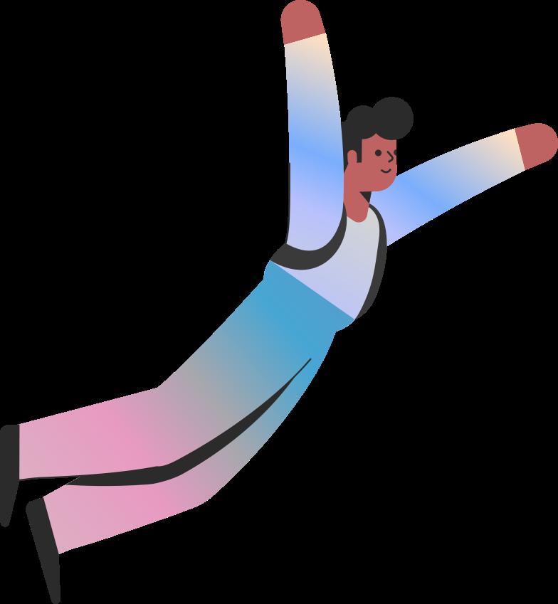 flying man Clipart illustration in PNG, SVG