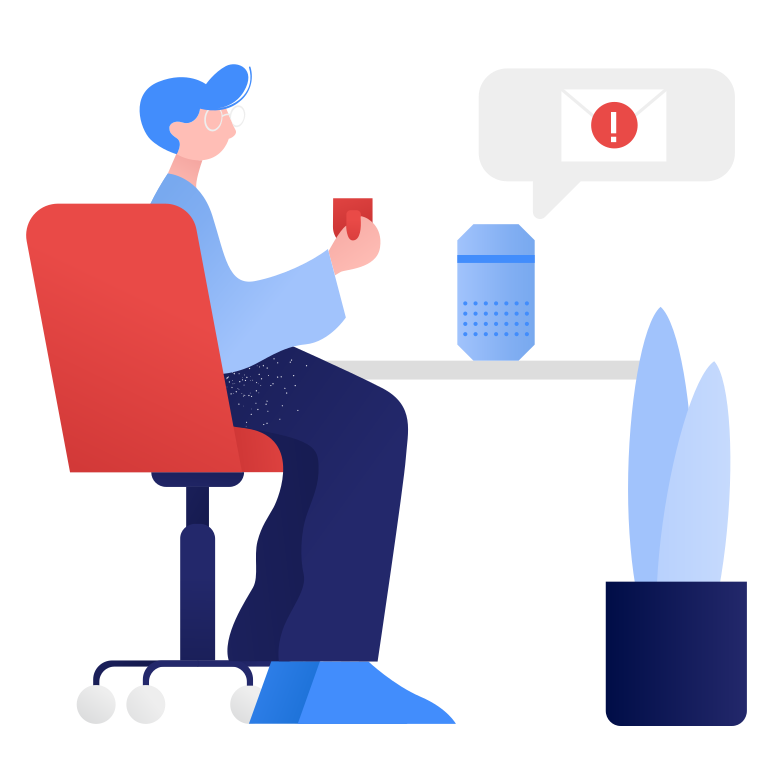 Smart speaker- new message Clipart illustration in PNG, SVG