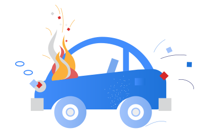 style Car on fire images in PNG and SVG | Icons8 Illustrations