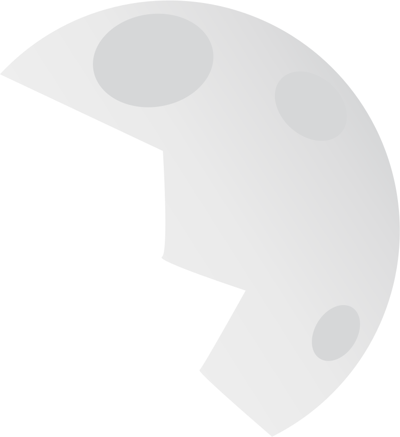 moon half Clipart illustration in PNG, SVG