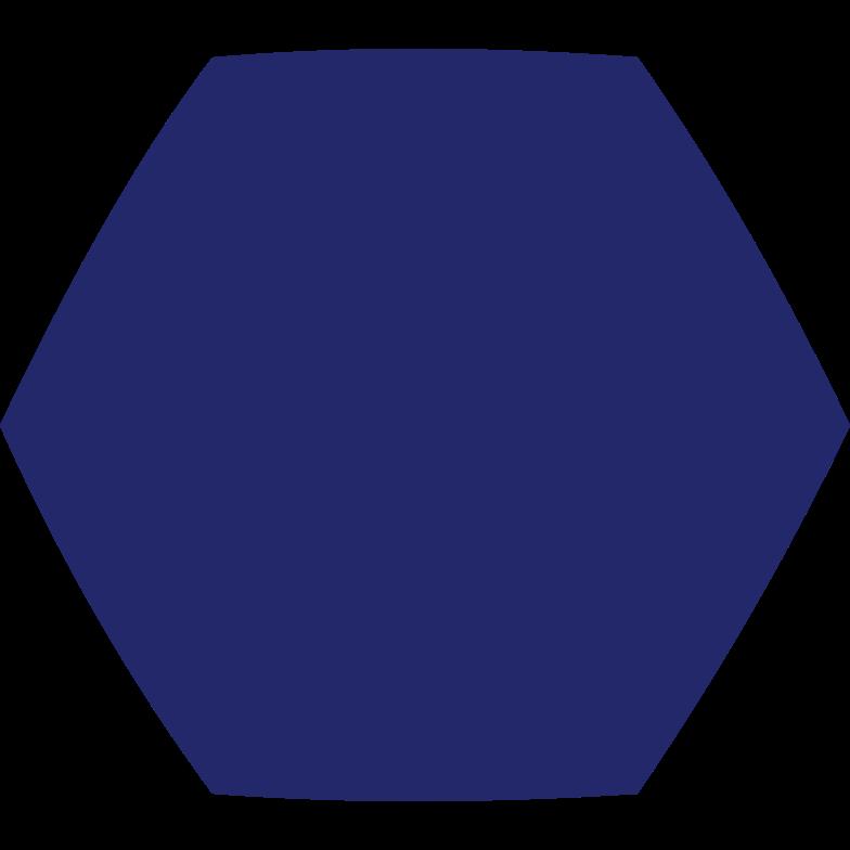 hexagon dark blue Clipart illustration in PNG, SVG