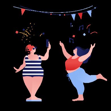 Иллюстрация Принимая фото на вечеринке в стиле  в PNG и SVG | Icons8 Иллюстрации