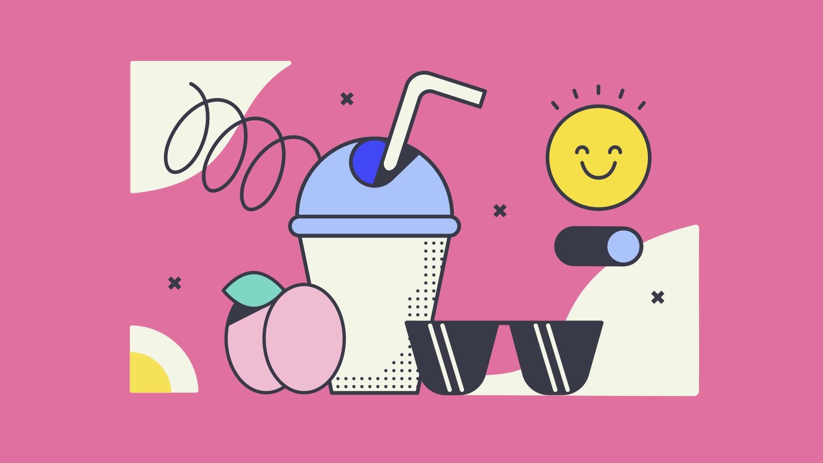 Summer drinks Clipart illustration in PNG, SVG