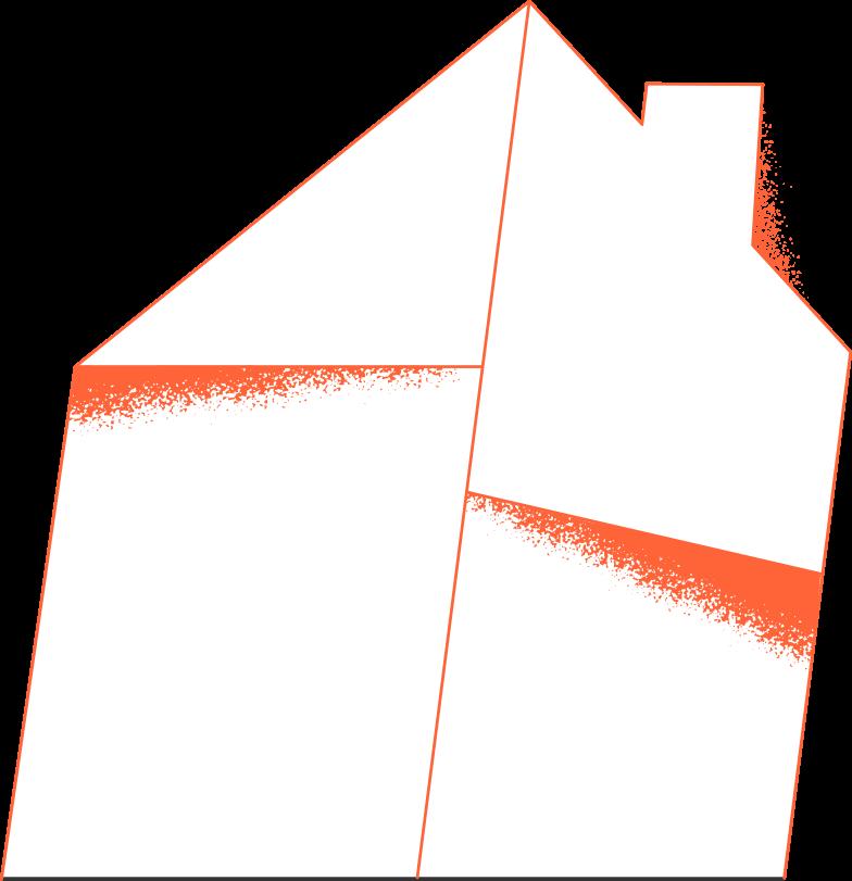 Illustration clipart Maison de campagne aux formats PNG, SVG