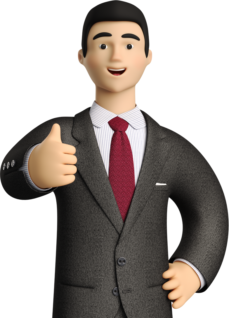 thumb up man Clipart illustration in PNG, SVG